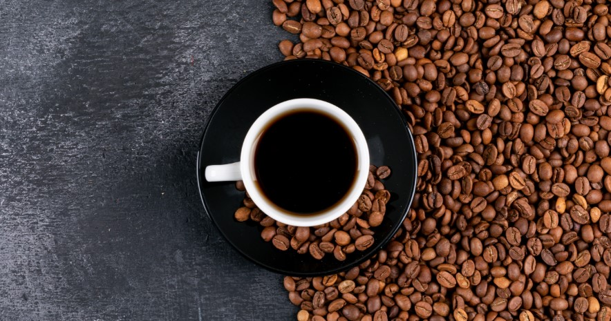 kopje zwarte koffie